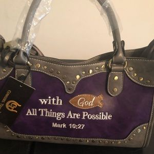 Handbags - Ladies... scripture hand bag!